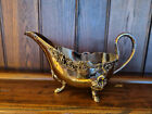 Attractive Vintage Silver Plated Gravy Sauce Boat   some wear to the interior