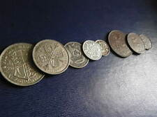 More details for year sets: circulated, pre-decimal, uk coins 1930 to 1936 halfcrown to farthing