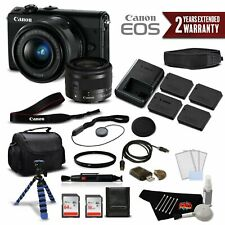 Canon EOS M100 Mirrorless Digital Camera with 15-45mm Lens (Black) 2209C011