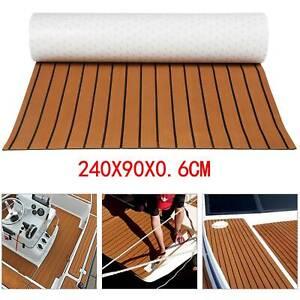 Teak EVA Schaum Boot Yacht Bodenbelag- Matte Deck Teppich Selbstklebend 240x90cm