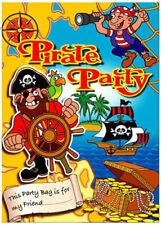 6 Pirata vacío Partido Bolsas-Juguete botín wedding/kids plástico claro