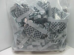 Lot of 65 Generic Gray Terminal Block End Caps Stop Barriers DIN Rail Mounting