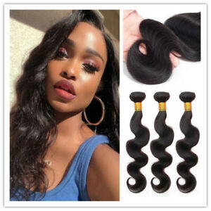 "Body Wave Hair 16""*3pcs Body Wave Bundles Natural Color Remy Hair Extensions"