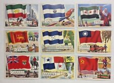 LOT OF 27 DIFFERENT 1956 TOPPS FLAGS OF THE WORLD VINTAGE TRADING CARD LOT L@@K