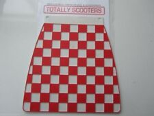 LAMBRETTA or VESPA CUPPINI RED AND WHITE EMBOSSED CHECKED LONG MUDFLAP