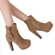 Sweet Women Platform High Heel Bowknot Side Zip Ankle Boot Casual Outdoor Shoes