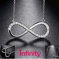 Traumhafte Kette Infinity Eternity Unendlichkeit Ewige Liebe 925 Sterling Silber