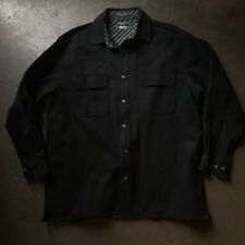 Men's Levi's Strauss Black Full Button Up Worker Long Sleeve Shirt Jacket Sz L