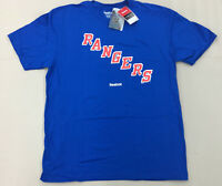 NHL Reebok NEW YORK RANGERS Team Primary T-Shirt Collection Men's New With Tags