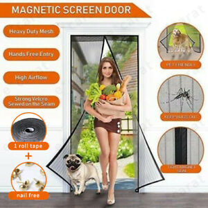 Magnetic Screen Door Mesh Hands-Free Net Mosquito Fly Insect Bug Curtain Closer