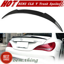 Carbon V Trunk Boot Spoiler Mercedes BENZ CLA W117 Fastback 14-17 CLA180