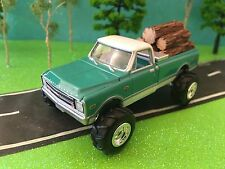 1/64 Custom Lifted 1968 Chevrolet C10, Logs Tricked out & sweet, farm toy truck!