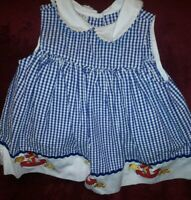 Samara  Little Girls Sleeveless Anchors& Fish Dress Pattern Adorable 24 Months