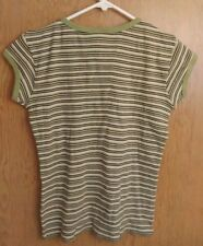 Old Navy Striped 100% Cotton Cap Sleeve Shirt Top Woman's Juniors Small Cute Nwt