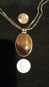 """Oval RUSSIAN SIMBIRCITE With PYRITE In UNIQUE Gold-Filled Necklace, 24"""" Chain"""