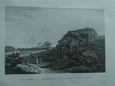 1845 Zuccagni-Orlandini La Tomba di Archimede a Siracusa in Sicilia