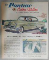 Pontiac Car Ad: Pontiac Custom Catalina ! from 1953 Size: 11 x 14 inches