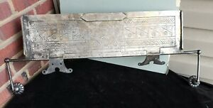 Ornate Aesthetic Movement Silver on Brass, Marble Soda Fountain ICE CREAM Cover