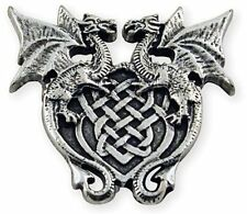 """Winged Dragon Crest Concho 1-3/16"""" (30 mm) x 1-1/8"""" Tandy Leather 71507-04"""