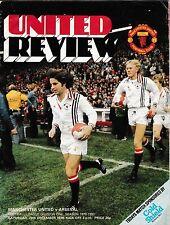 Football Programme>MAN UTD v ARSENAL Dec 1979