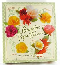 Beautiful Paper Flowers Craft Kit Book New rose dahlia lily peony poppy daffodil