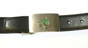 John Deere Tractor Enamel Leather Belt and Metal Buckle Ideal Farming Gift