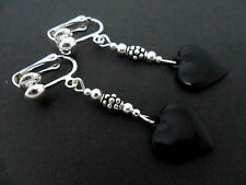 Heart Clip - On Costume Earrings