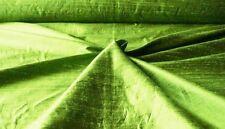 """HANDLOOM 100% SILK DUPION 54"""" wide GRASS BY HALF MT"""