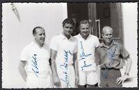 Tennis - Autografi di giocatori tedeschi su cartolina fotografica
