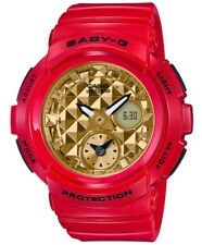 Casio Baby-G * BGA195VLA-4A Studs Anadigi Dial Gloss Gold x Red Watch COD PayPal