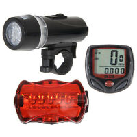 WiredCycling Bike Computer Bicycle Speedometer Odometer LCD Backlight+Rear Lamp