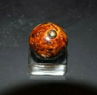 "Antique German  Bennington Glaze Clay Marble Size 3/4"" =.750 Near MINT!"