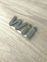Nintendo Wii video game shelf sign 3d printed! videogame Accessory