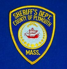 Sheriff's Dept. Plymouth County Massachusetts Embroidered Patch NEW