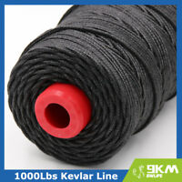 1000lb Heavy Duty Black Speargun Braid Line Made with Kevlar Conventional Wrap