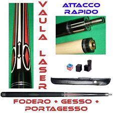 KIT STECCA BILIARDO VAULA LASER 1 CALCIO + PUNTALE + FODERO + PORTAGESSO + GES2