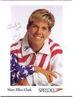 "Mary Ellen Clark, US Olympic Diver, Signed 8 1/2"" x 11"" Photo, COA, UACC RD 036"