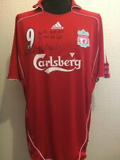 Liverpool Small Number 9 Home Shirt Signed Robbie Fowler & Ian Rush Guarantee