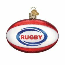 Rugby Ball Ornament New Old World Christmas Blown Glass Sports