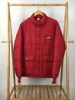 VTG Swingster Men's Puffer Insulated Manitowoc Patch Red Jacket Size L USA RARE