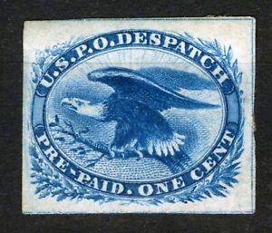 USA - STAMP, 1851, 1c Blue, Eagle U.S.P.O Despatch, imperforate, SCOTT LO2