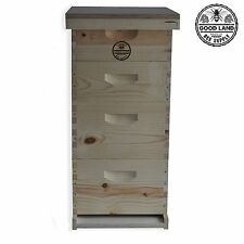 Double Deep Brood Box & Double Super Box 4 Tier Beginners Beehive Kit - Gl4Stack