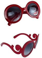 Lady Gaga Balrog Style Fashion Baroque Paparazzi Round Shape Sunglass - Red