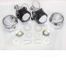 "2x 2.5"" Mini HID Bi-xenon Projector lens Kit Headlight Bulb Shroud H1 high low"