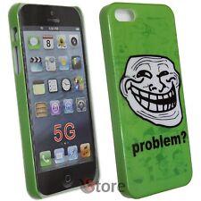 Cover Custodia Per iPhone 5S 5 5G Problem? Meme Troll + Pellicola Salva Schermo