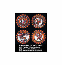 4  x  TIGERS BALMAIN FOOTBALL RUGBY LEAGUE AUSSIE RULES, SOCCER DRINK COASTERS