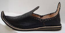MOROCCAN ALADIN BABOUCHE SLIPPERS 5/38  BLACK * UNISEX