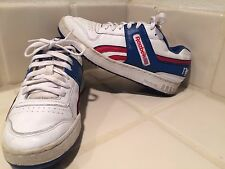 Vintage Reebok Red White & Blue Leather Low Top Basketball Shoes 7.5 Legacy