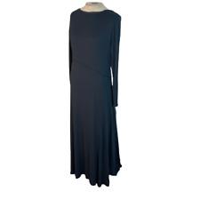 Soft Surroundings Ribbed Knit Maxi Dress Black M Medium