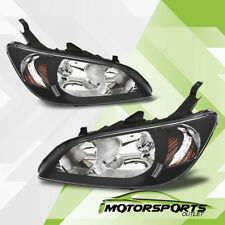 For 2004 2005 HONDA CIVIC 2/4DR JDM Black Clear Headlights Head Lamps Pair